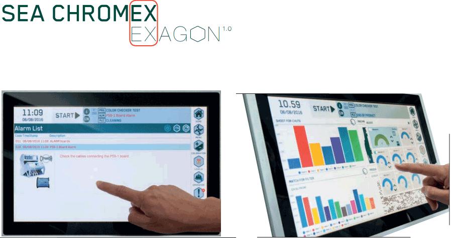 SEA CHROMEX Exagon User Interface
