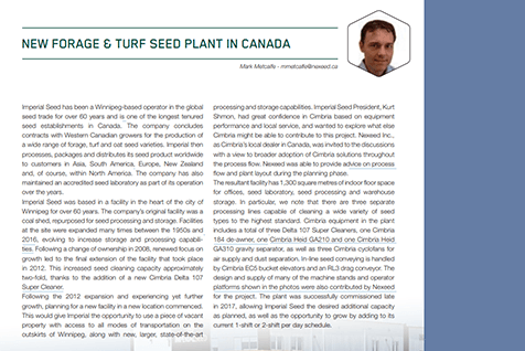 Mark Metcalfe in the Cimbria Newsletter